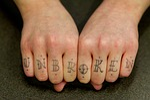 hands, finger, tatoo
