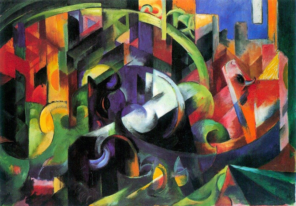 Free Illustration: Painting, Franz Marc, Abstract, Art