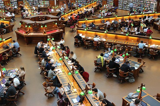 Library, La Trobe, Study, Students, Row