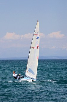 Sailing, Finn, Sailboat, Sport, Dinghy