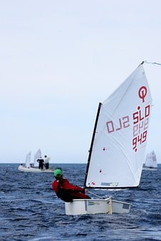 Sailing, Dinghy, Optimist, Sailboat