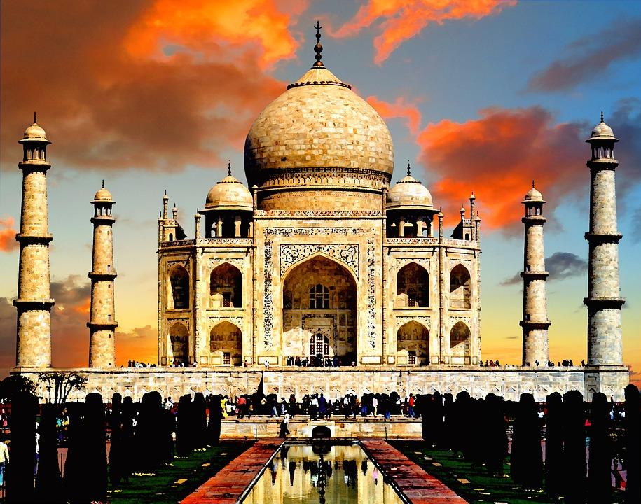 Kostenloses foto taj mahal indien taj mahal for Architecture inde