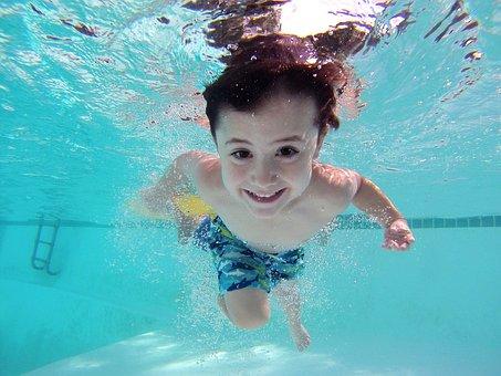 Kid, Swim, Pool, Underwater, Pool, Pool