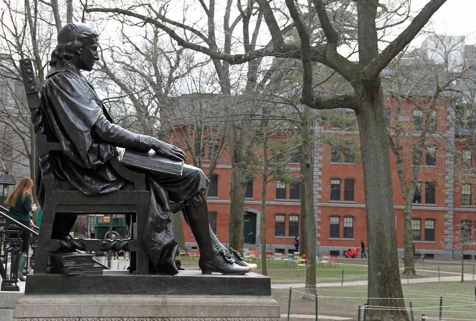 Harvard, Boston, Statue, Bronze, Attraction, Historic