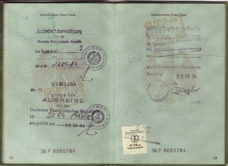 Passport, Visa, Ddr, Federal Republic Of