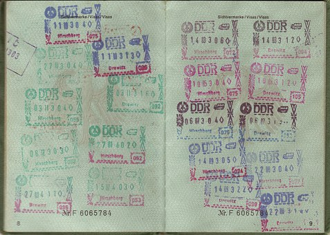 Passport, Transit, Visa, Ddr
