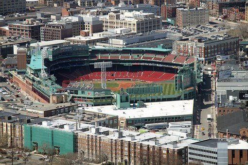 Fenway Park Baseball Park Boston Aerial Vi