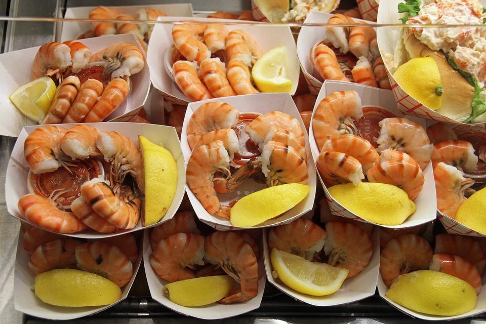 Shrimps, Fresh, Quincy Market, Boston, Market, Hall