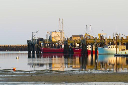 Provincetown, Cape Cod, Wharf, Sunset