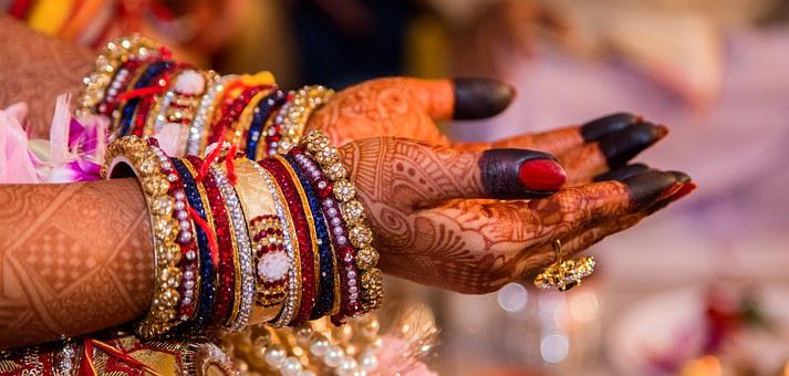Wedding, Marriage, Hand Painting, Woman