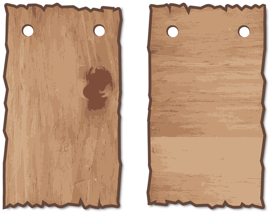 free vector graphic wood wooden signs set hang free