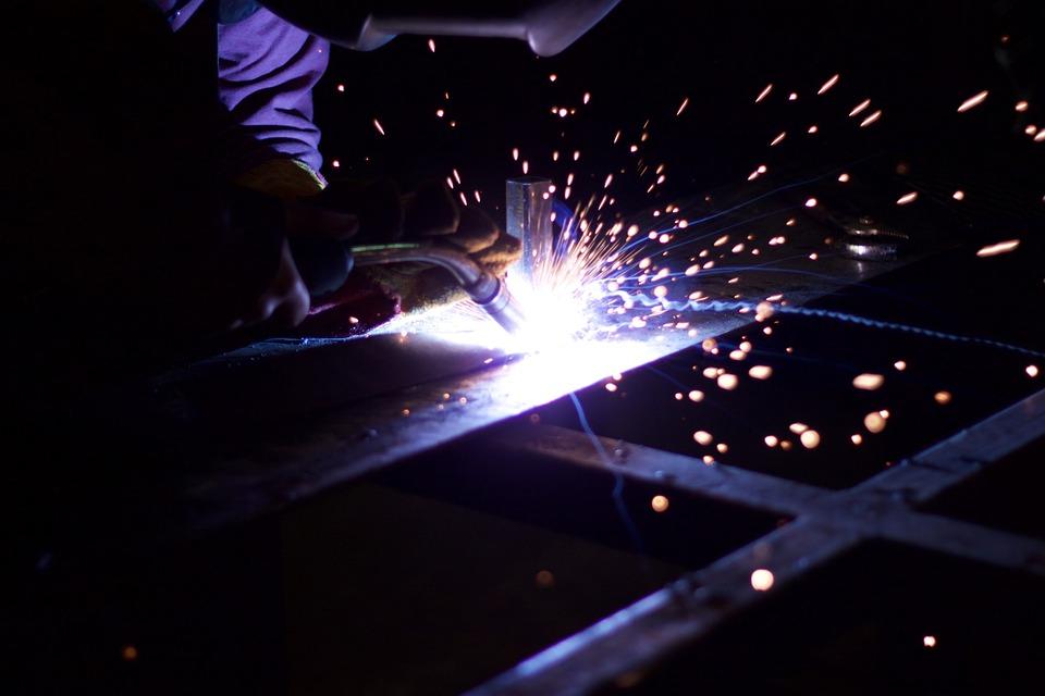 Metalworking, Iron, Sparks, Weld, Metal, Metalwork