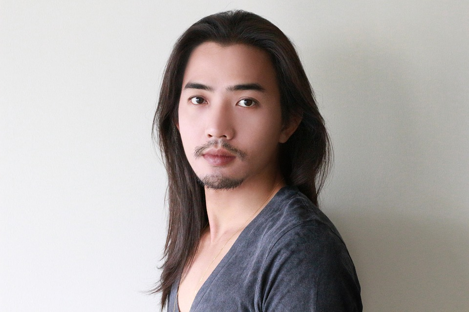 free photo face long hair male model free image on