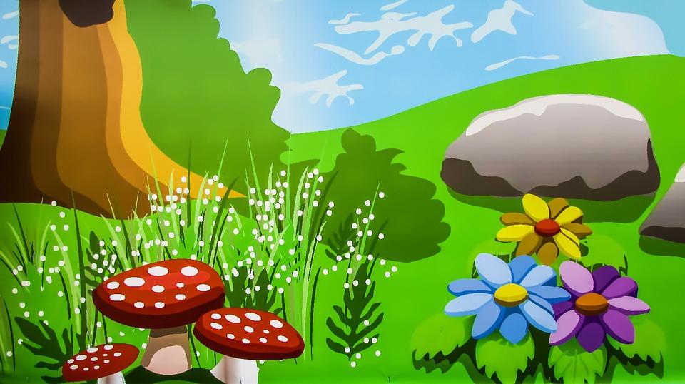 Gambar Ilustrasi Taman Bermain Taman Bermain Warna Tanaman Gambar Gratis Di Pixabay