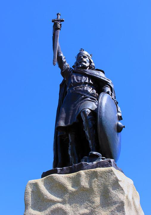 Statue, Alfred, King Alfred, Uk, England, King