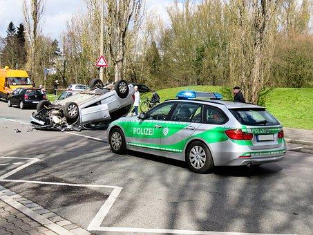 事故, 自動, 損傷, 車両, 壊れた, 被害総額, 交通事故, 警察
