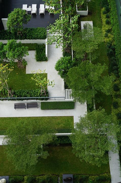 Garden Design Top View Landscape Green Vacation