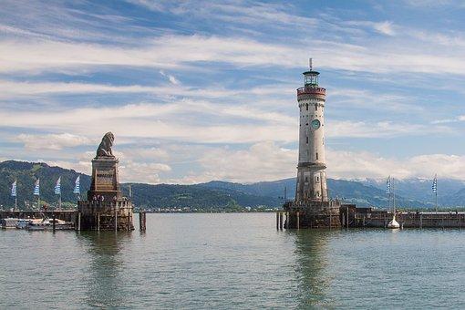 Lindau 340 Bodensee Hafen Leuchtturm