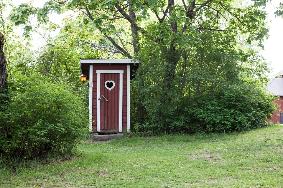 Outhouse Country Dry Toilet Toilet Wood Rustic
