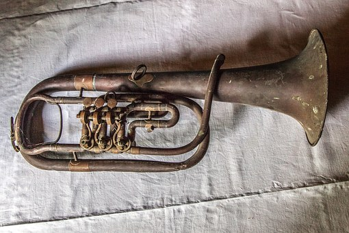 Old Trumpet, Rusty, Antique, Trumpet