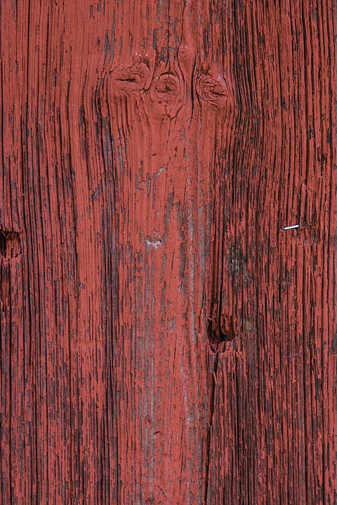 Free Photo Red Wood Paint Plank Closeup Free Image On