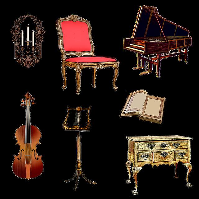 Illustration gratuite clavecin violon pupitre meubles image gratuite sur pixabay 1412019 for Meuble transparent