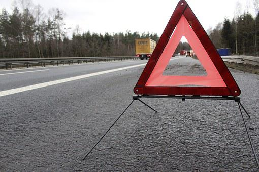 Warning Triangle Accident Highway Warning