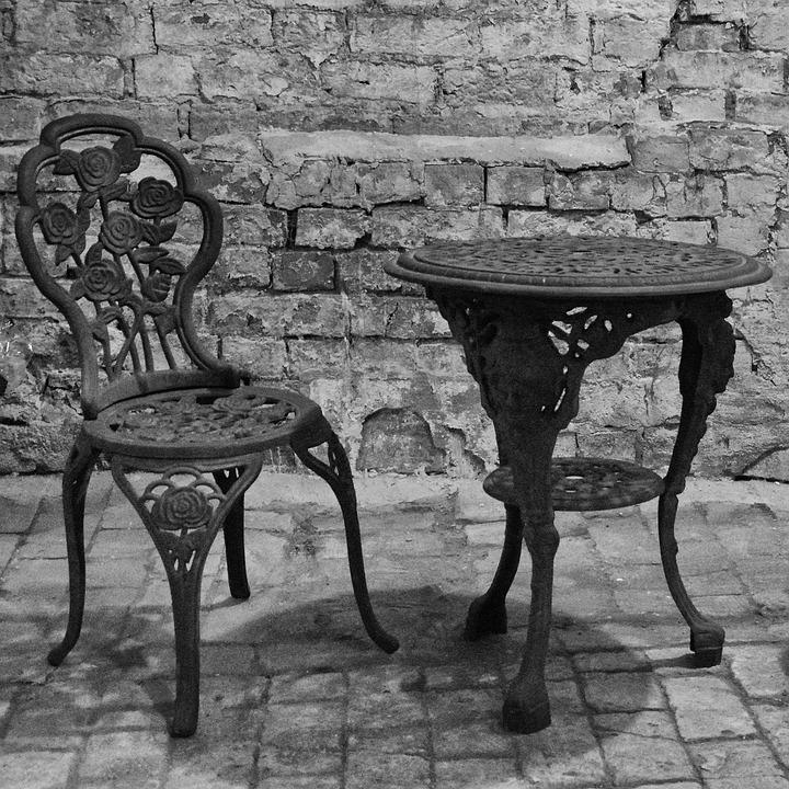 Gartentisch Alt.Gartenstuhl Gartentisch Alt Kostenloses Foto Auf Pixabay