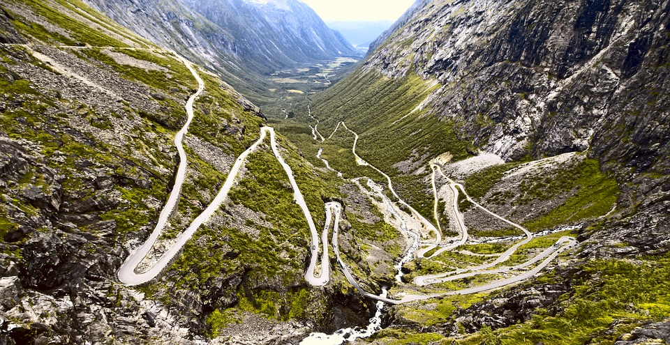 Trollstigen, Road, Serpentine, Norway