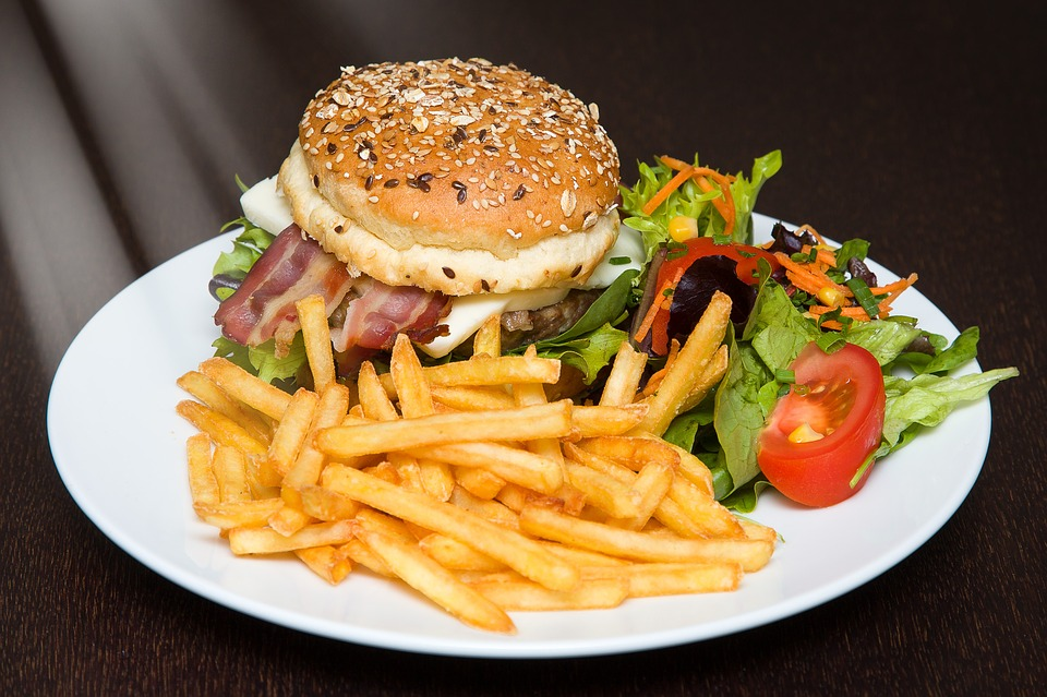 Photo Gratuite Hamburger Aliments Burger Frites