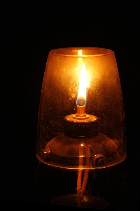 Oil Lamp Wick Flame Illuminate Oil Light Glass