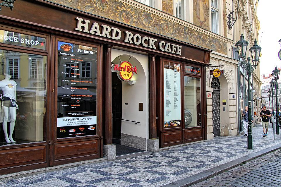 Menu In Hard Rock Cafe Prague