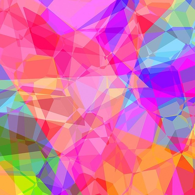 abstract polygonal colorful background - photo #12