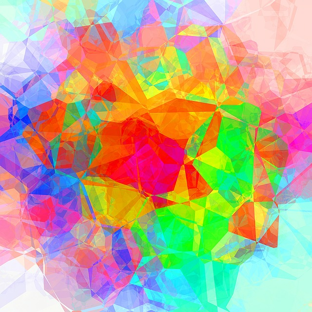 free illustration  colorful  abstract  polygon