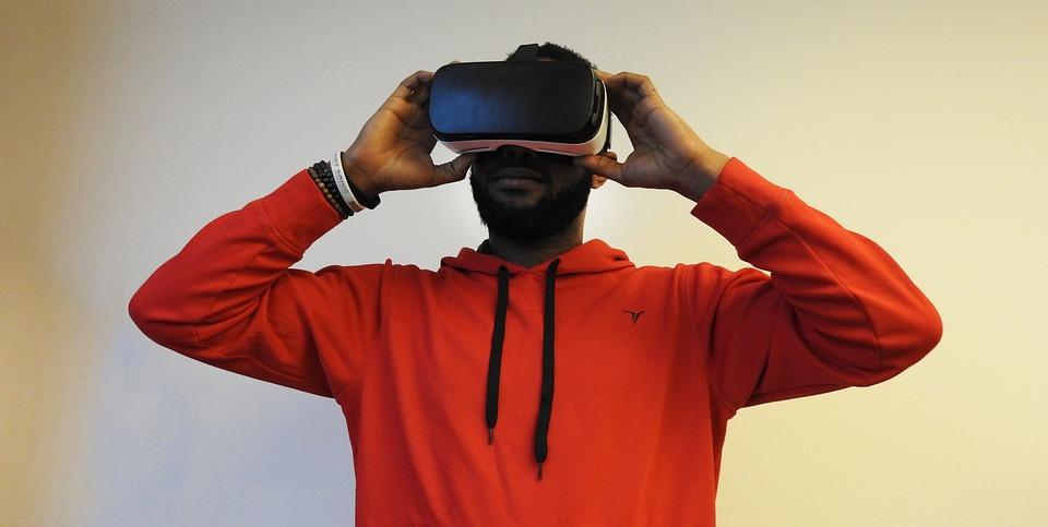 Hombre, Negro, Realidad Virtual, Engranaje De Samsung