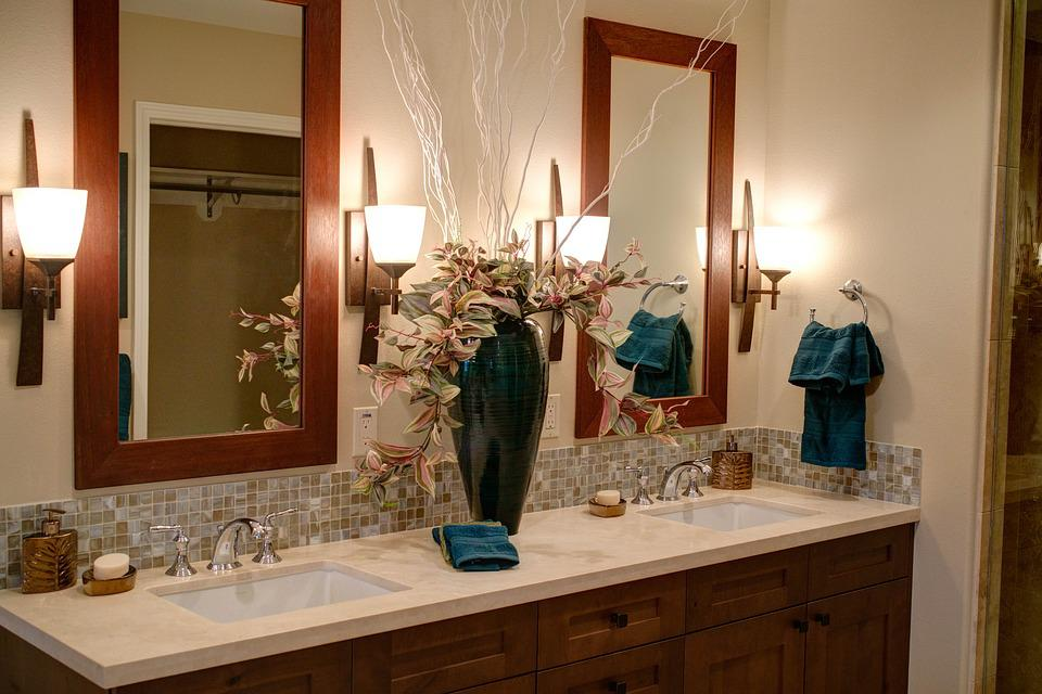 Double Sink, Home, Modern Bathroom, Interior, Design