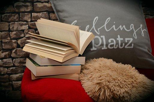 Books, Book, Read, Relax, Sofa, Pillow