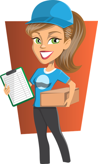 Free vector graphic: Delivery, Girl, Courier, Woman - Free ... Package Delivery Clipart