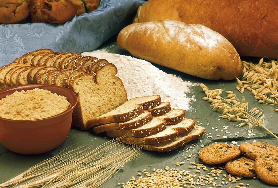 パン, シリアル, エンバク, オオムギ, 小麦, 小麦粉, 全粒粉パン, 健康食品, 栄養の, 穀物