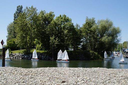Sailing School, Dinghy, Exercise, Sail