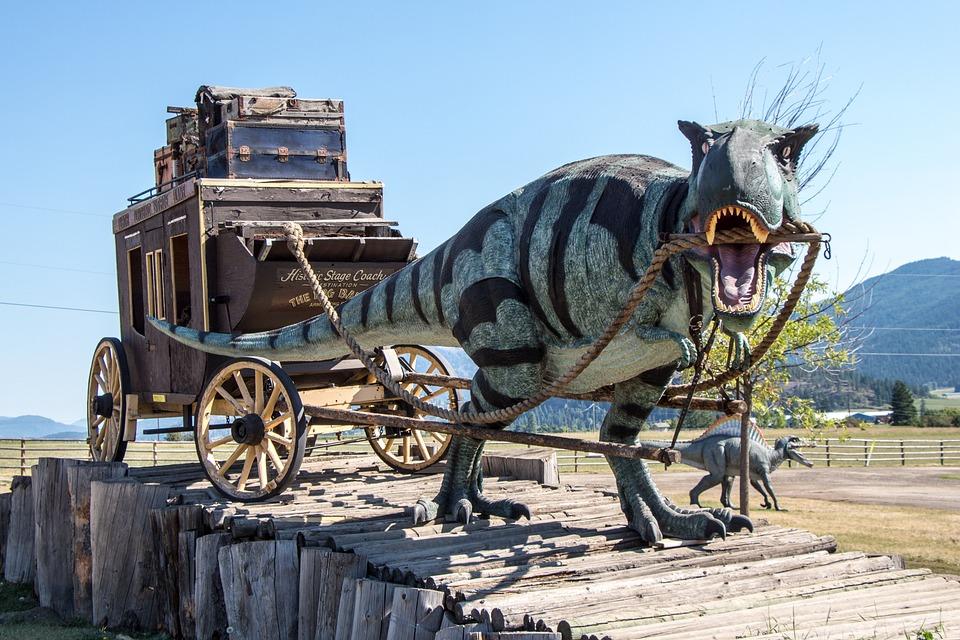 Dinosaur Stagecoach T-Rex · Free photo on Pixabay