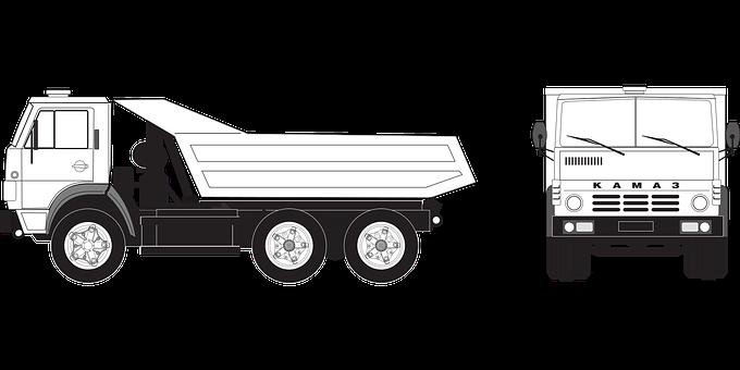 Truck, Kamaz-5511, Russian Truck, Load