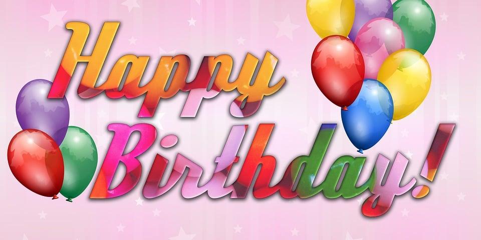 Favoloso Illustrazione gratis: Holiday, Buon Compleanno, Felice - Immagine  MA21