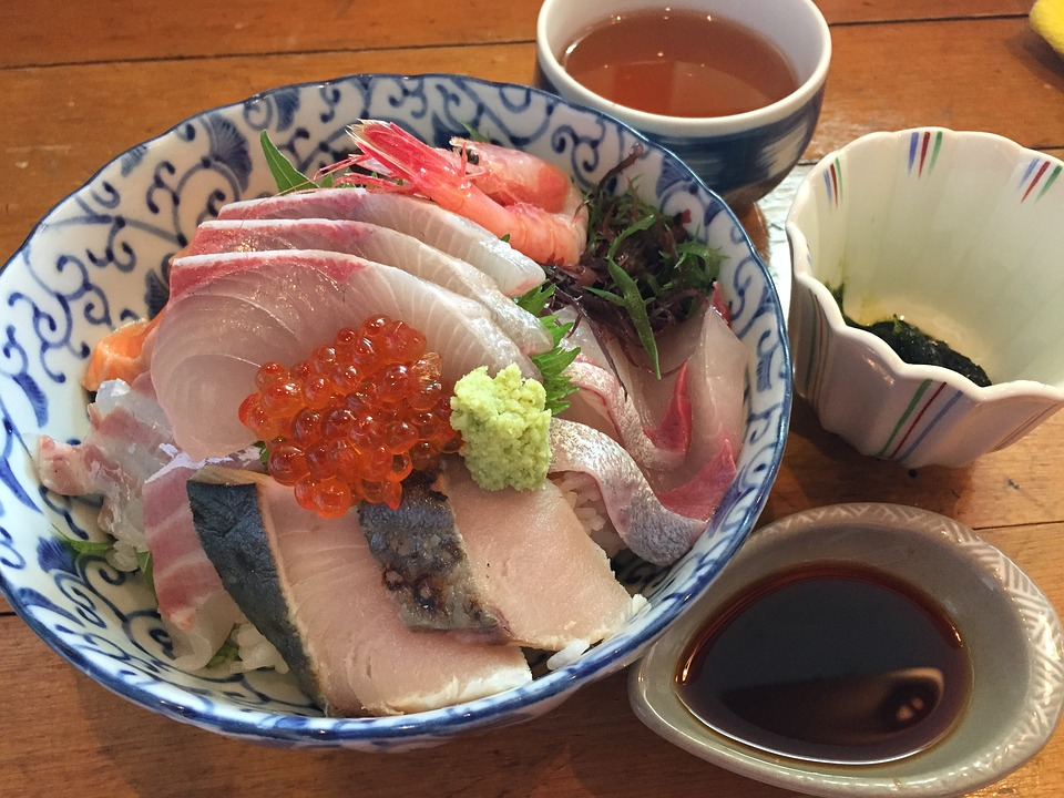 海鮮, 海鮮丼, 日本食