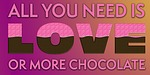 love, chocolate, quote