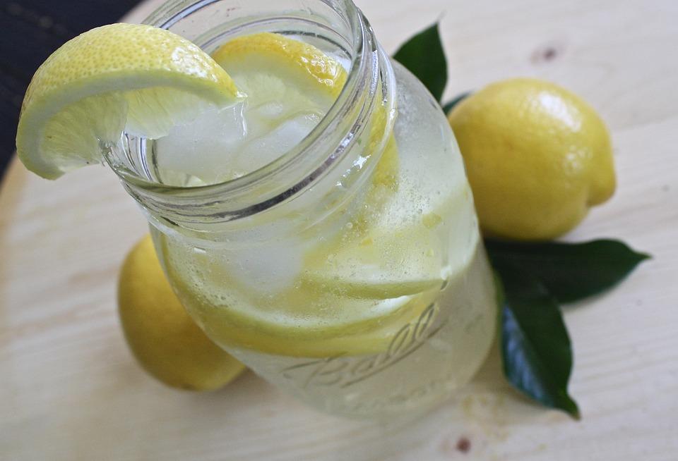 Lemon Water, Lemonade, Glass, Lemon, Drink, Refreshment