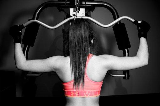 トレーニング, 女の子, 重量, フィットネス, 健康, ライフスタイル, 運動