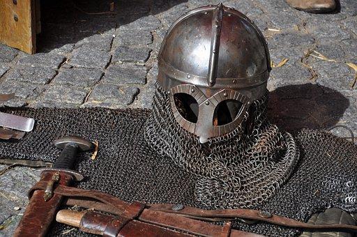 Knight Armor Helmet Weapons Sword A