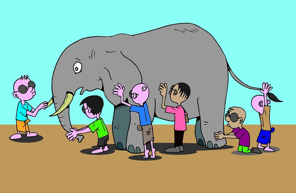 Free Illustration Blind Men Burmese Elephant Story