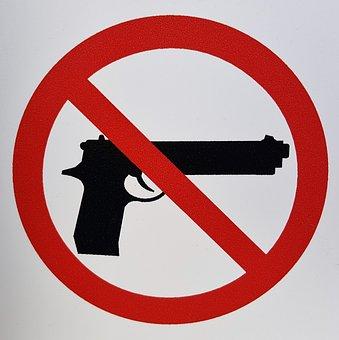Gun Control, Gun Laws, Sign